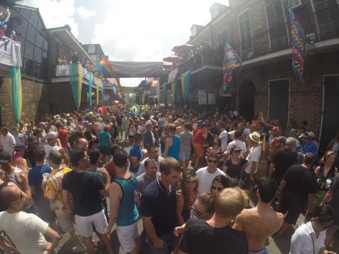 Bourbon St packed