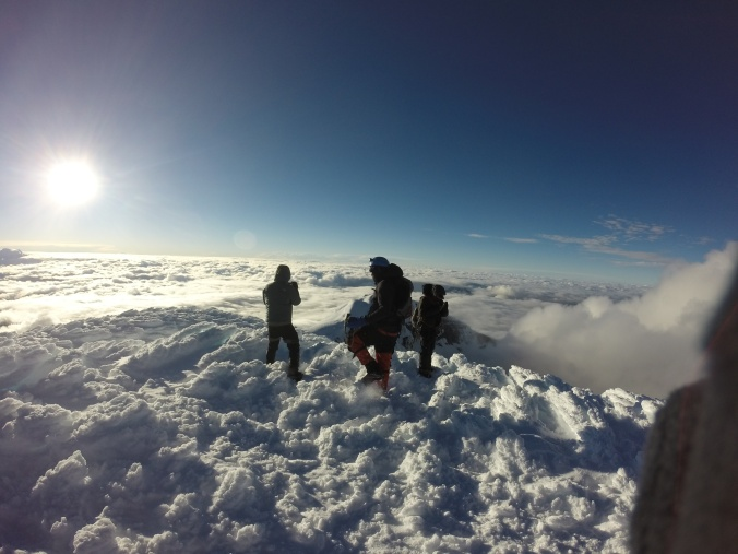 climbing party at Cotopaxi